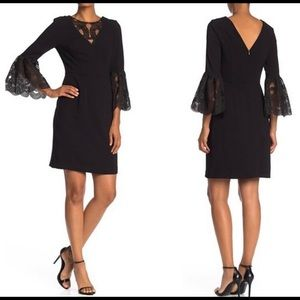 NWT Trina Turk Luciano black sheath lace dress